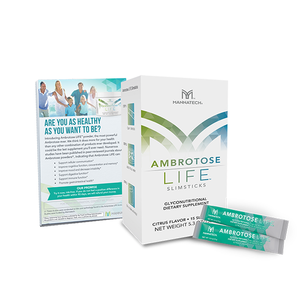 Ambrotose  LIFE®  Slimsticks and Free Sample Cards