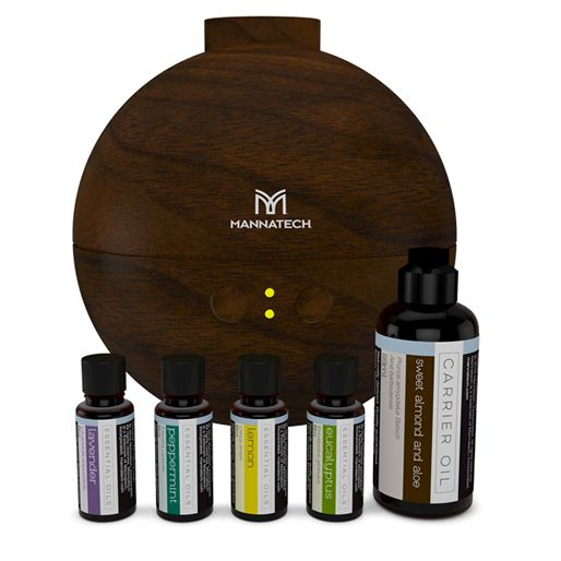 Essential Oils Kit - 5 Piece Sweet Almond + Diffuser